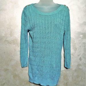 Susan Bristol Linen Sweater EUC M
